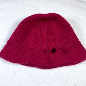 Ann Taylor Cashmere cable knit cloche bucket hat